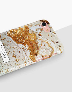Custom Name Gold Marble Classic Case