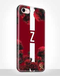 Custom Monogram Red Roses Tough Case