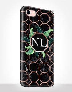 Custom Name Art Deco Tropical Tough Case