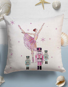 Nutcracker Ballet Throw Pillow