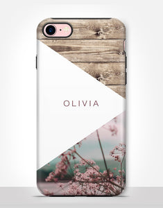 Custom Name Boho Floral Tough Case