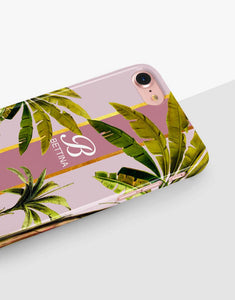 Custom Monogram Banana Leaves Classic Case