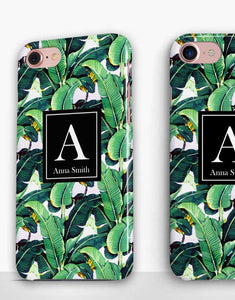 Custom Name Banana Leaves Classic Case