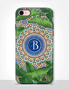 Custom Monogram Tropical Mosaic Tough Case