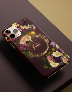 Custom Name Spring Flowers Classic Case