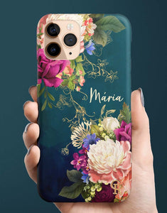 Custom Name Vintage Bouquet Classic Case