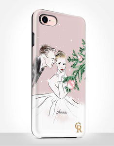 Custom Name Romantic Christmas Tough Case