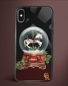 Custom Name Snow Globe Glass Case