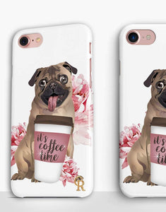 Coffee Time Pug Classic Case