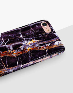 Purple And Black Marble Classic Case