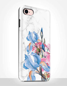 Blue Floral Tough Case