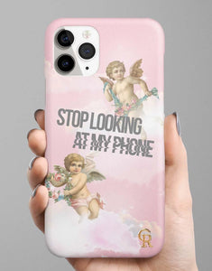 Stop Looking At My Phone Classic Case