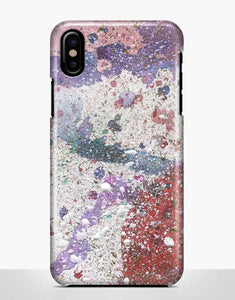 Purple Abstract Paint Classic Case