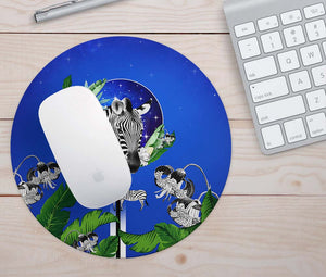 Tropical Zebras Mouse Pad