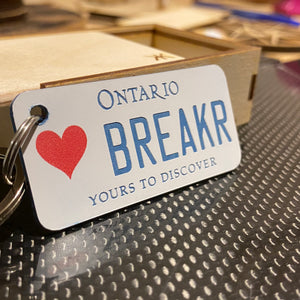 Ontario graphic license plate keychains