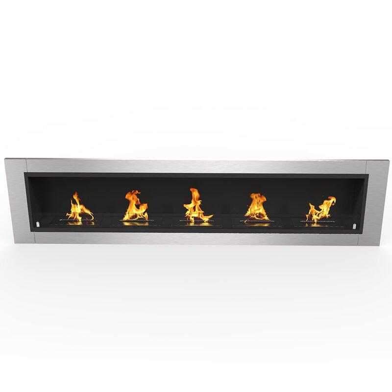 Recessed Wall Mounted Bio-Ethanol Fireplace