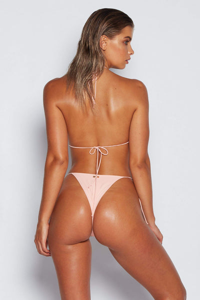 Amalia Tie Up Bikini Bottoms - Blush - MESHKI