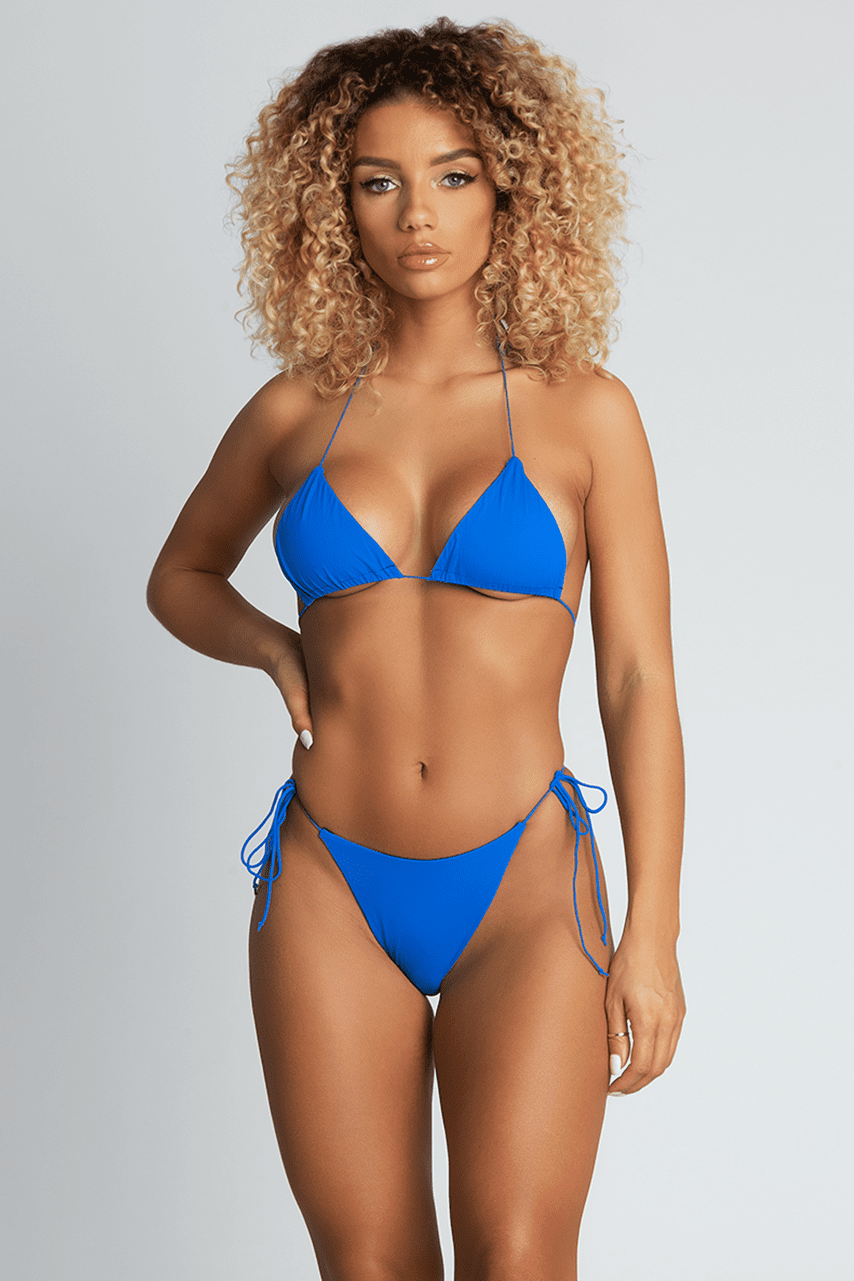 Amalia Sexy amalia tie up bikini bottoms - bright blue