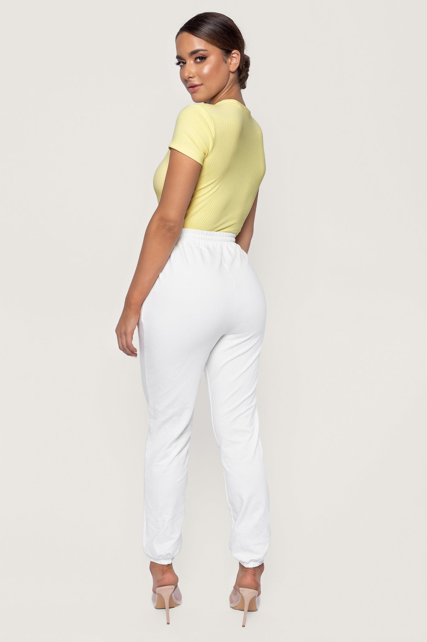 Rebecca Ribbed High Cut Bodysuit - Lemon - MESHKI