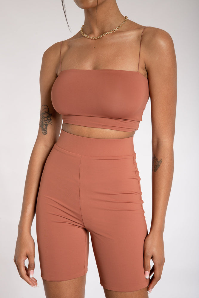 Cameryn High Waisted Bike Short - Sienna - MESHKI