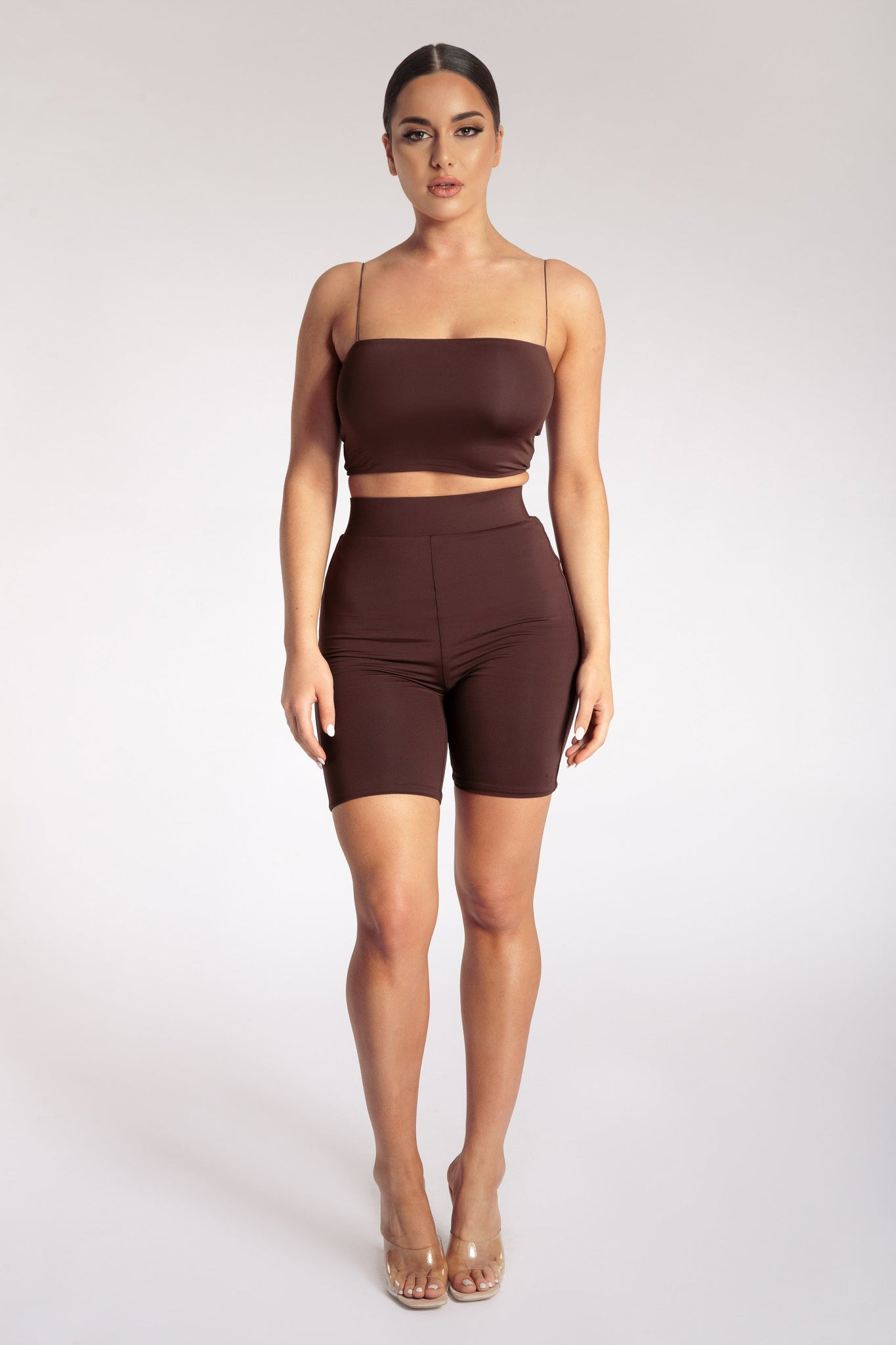 Yvonne Crop Top - Chocolate - MESHKI