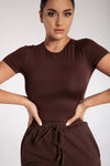 Haven Short Sleeve Bodysuit - Chocolate