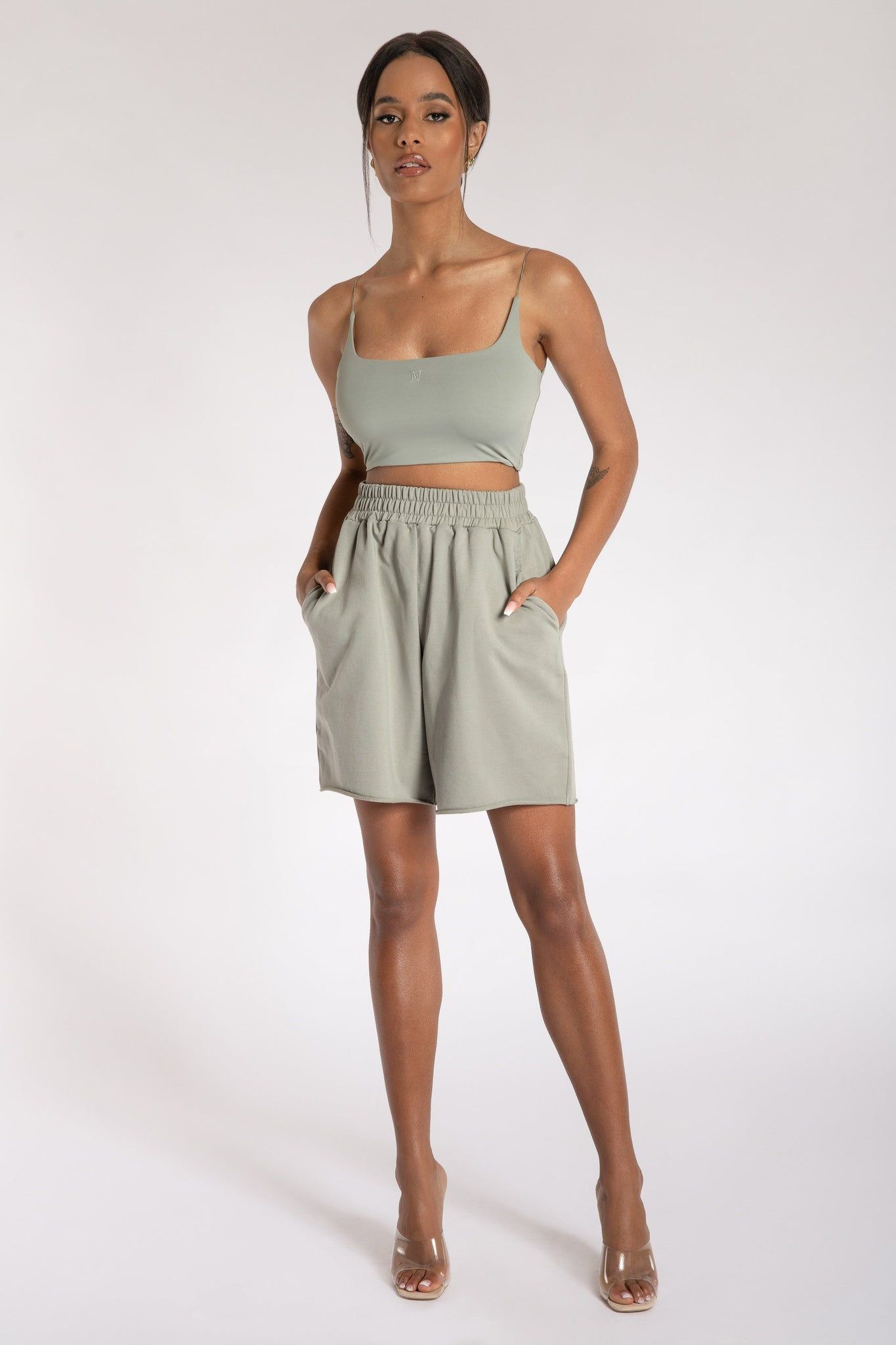 Paloma Long Shorts - Sage - MESHKI