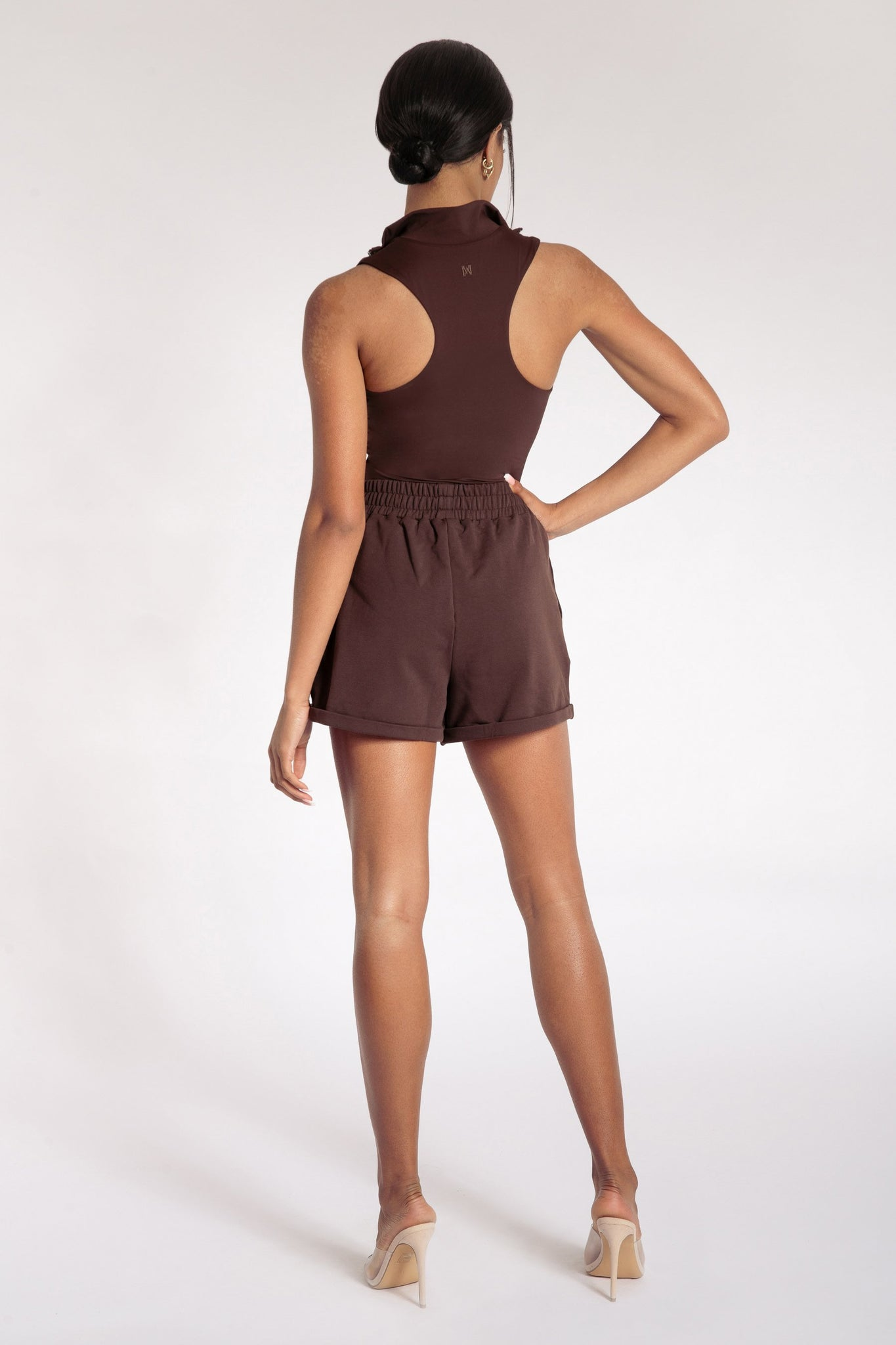 Tahlia Loopback Shorts - Chocolate - MESHKI