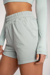 Tahlia Loopback Shorts - Grey Marle