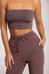 Yvonne Crop Top - Grey
