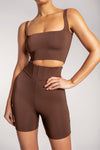 Chaya High Waisted Boned Bike Short - Sienna