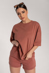 Rose Oversized T-Shirt - Sienna