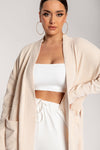 Delta Long Chenille Cardigan - Cream