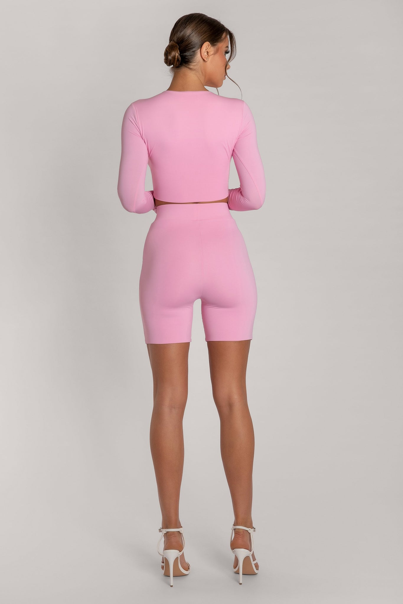 Cameryn High Waisted Bike Short - Pink - MESHKI