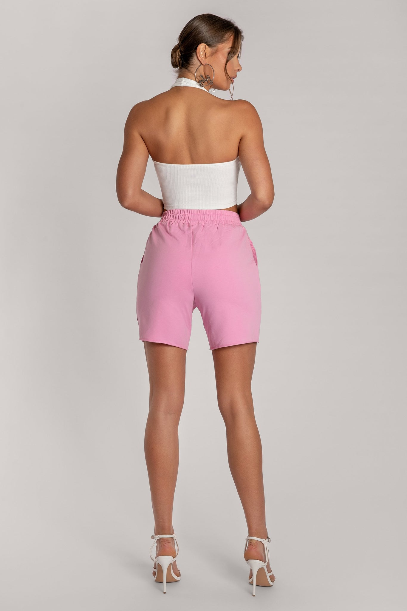Paloma Long Shorts - Pink - MESHKI