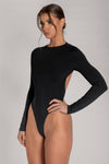 Rayne Cut Out Long Sleeve Bodysuit - Chocolate