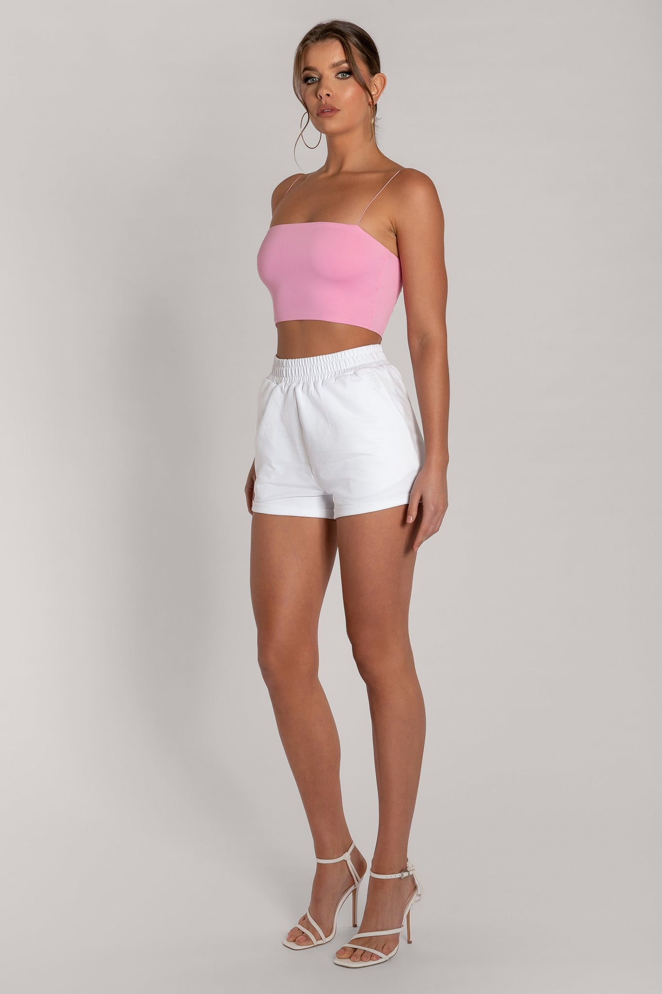 Yvonne Crop Top - Pink - MESHKI