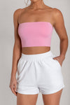 Yvonne Crop Top - Peach