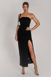 Celine Strapless Maxi Dress - Black