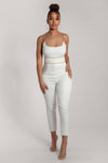 Luella Chain Trim Cigarette Pant - White