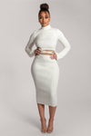 Aidy Knit Midi Skirt - White