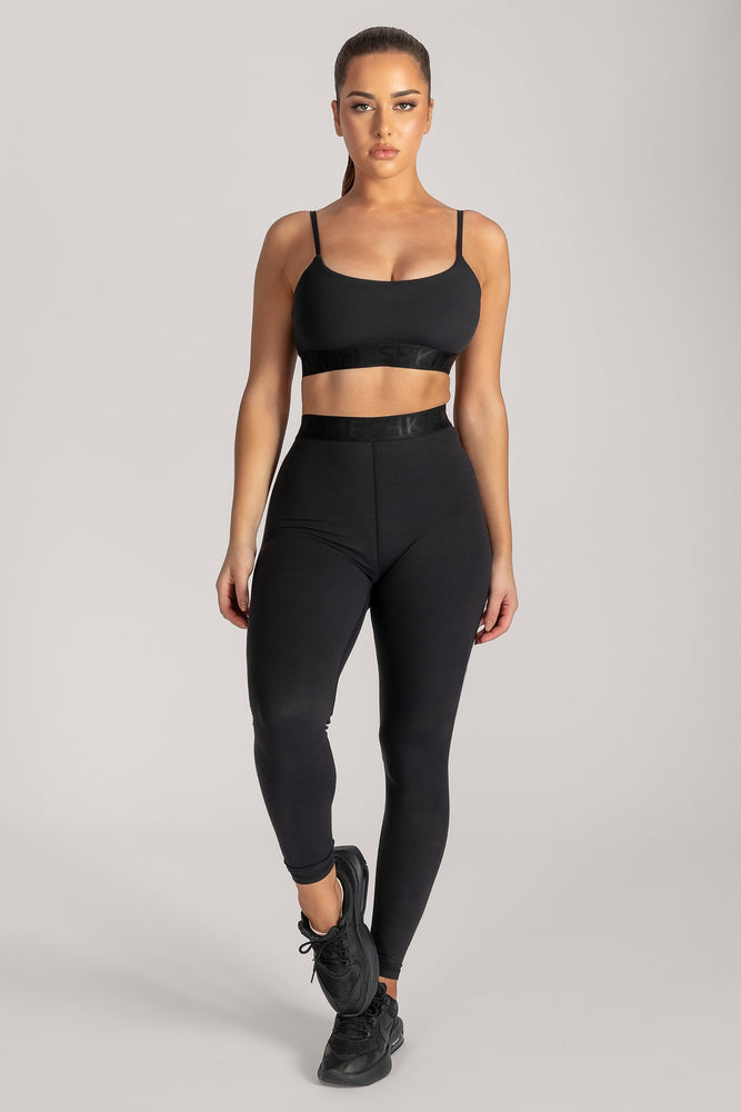 Adonis Meshki Scoop Neck Crop Top - Black - MESHKI