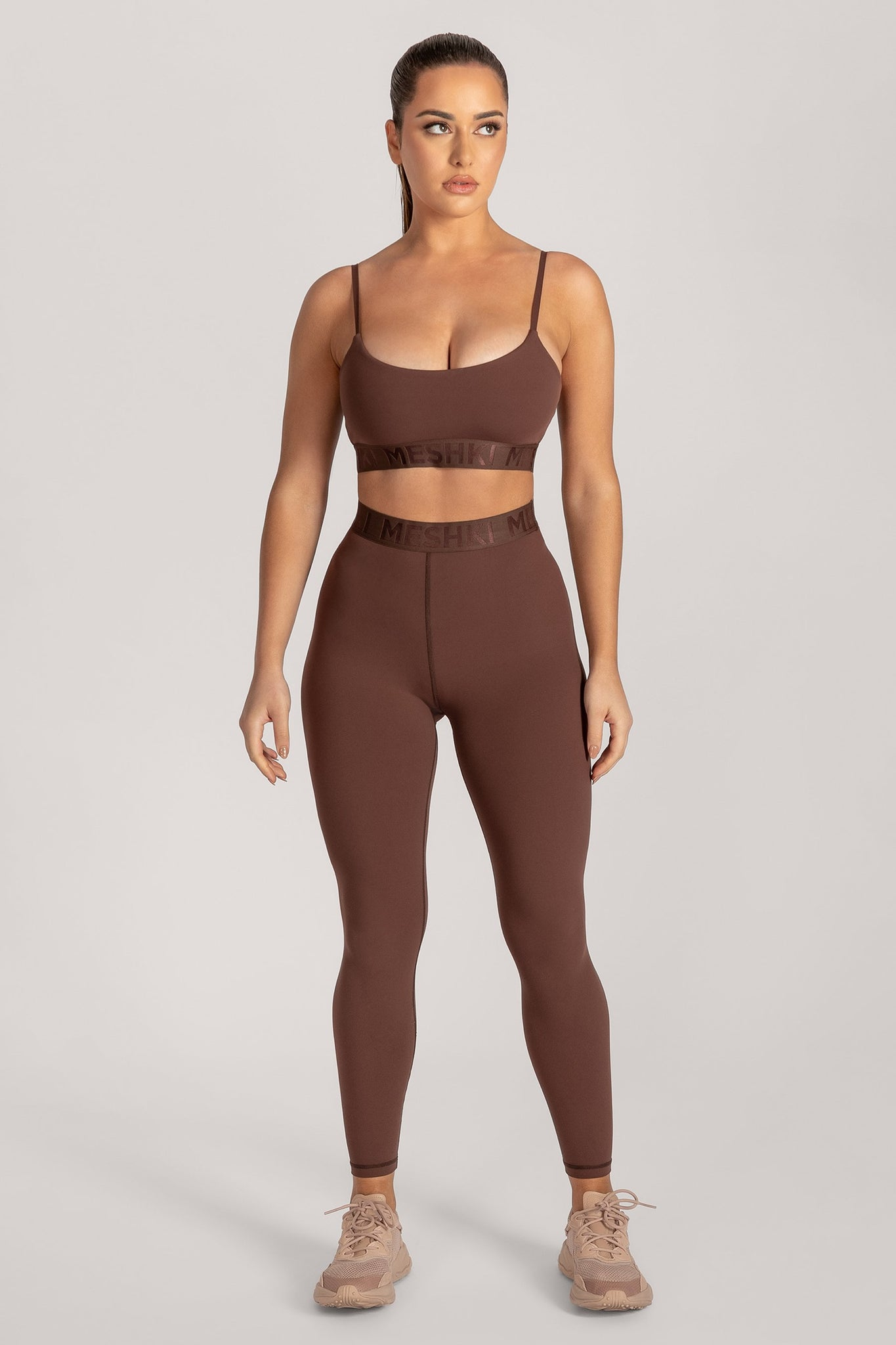 Acacia Meshki Full Length Leggings - Chocolate - MESHKI