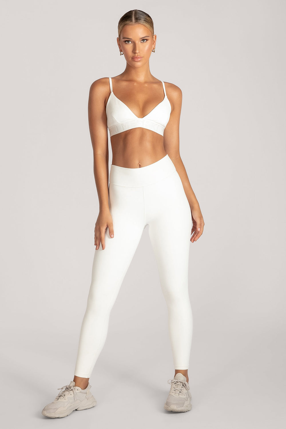 Rhea Meshki Triangle Crop Top - White - MESHKI