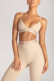 Rhea Meshki Triangle Crop Top - Nude - MESHKI