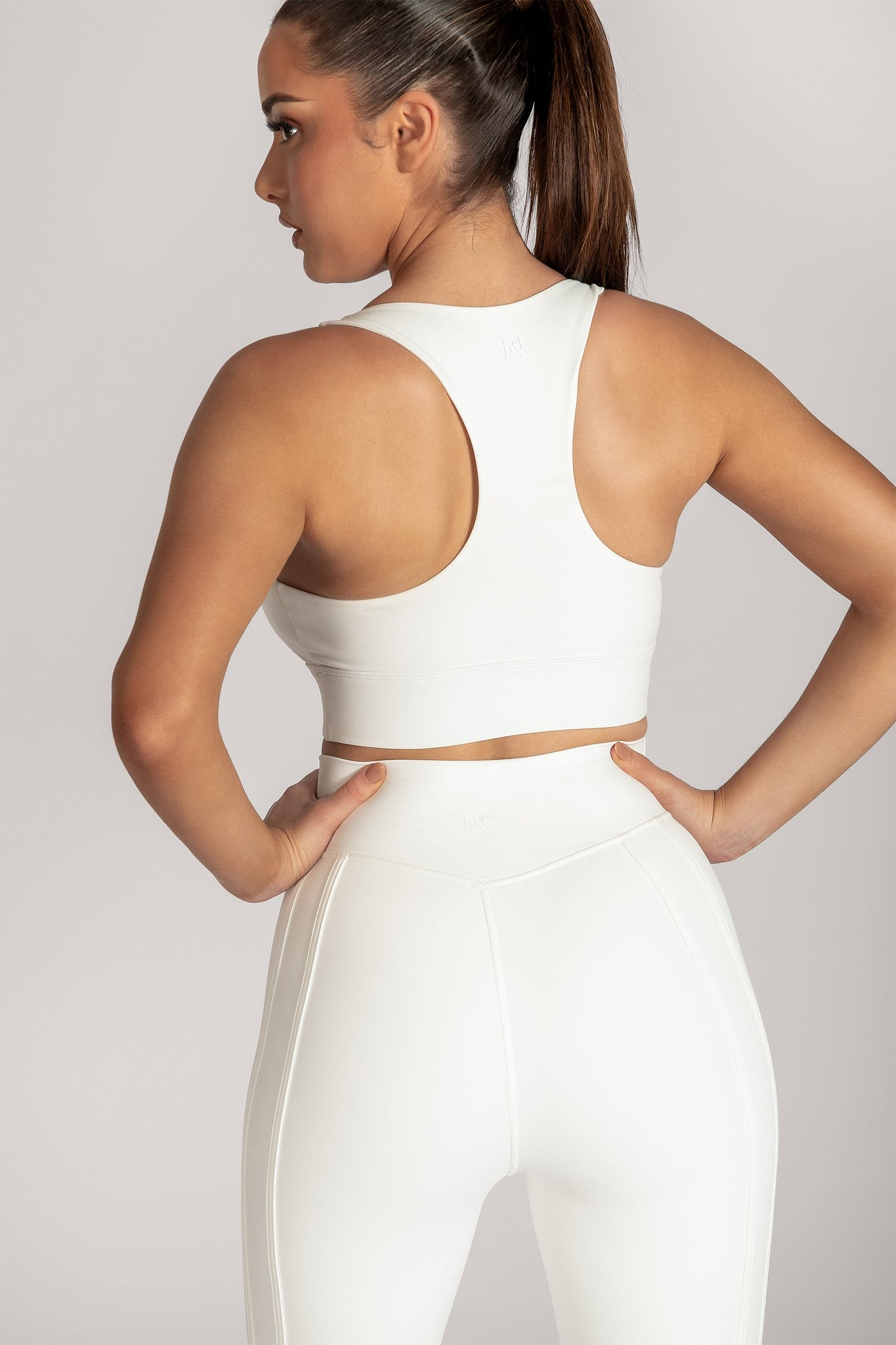 Thea Racerback Crop Top - White - MESHKI