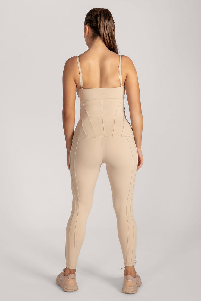 Hera Panelled Leggings - Nude - MESHKI