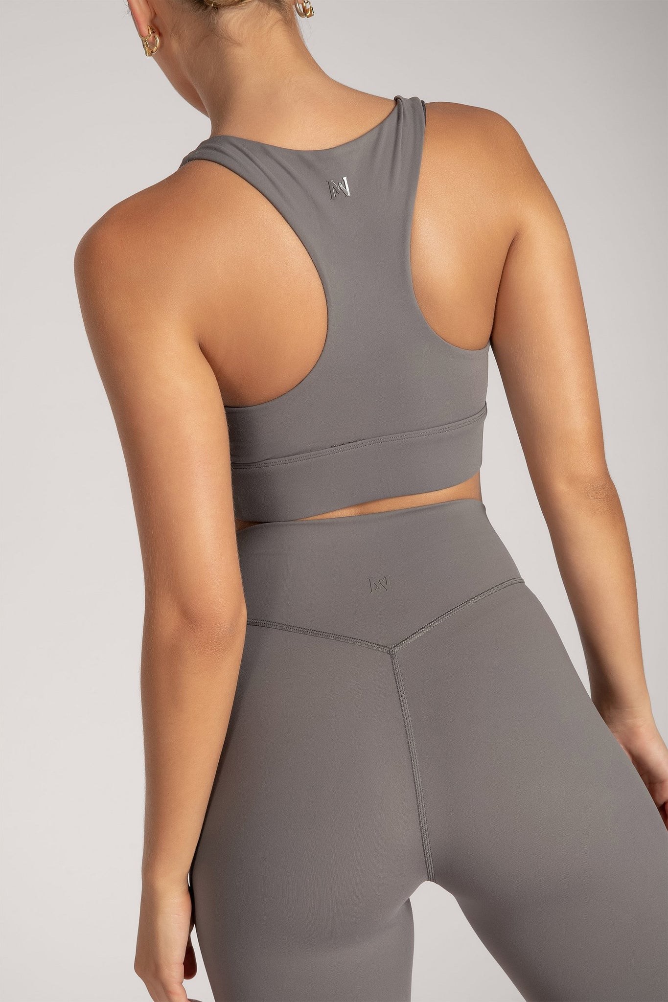 Thea Racerback Crop Top - Charcoal - MESHKI