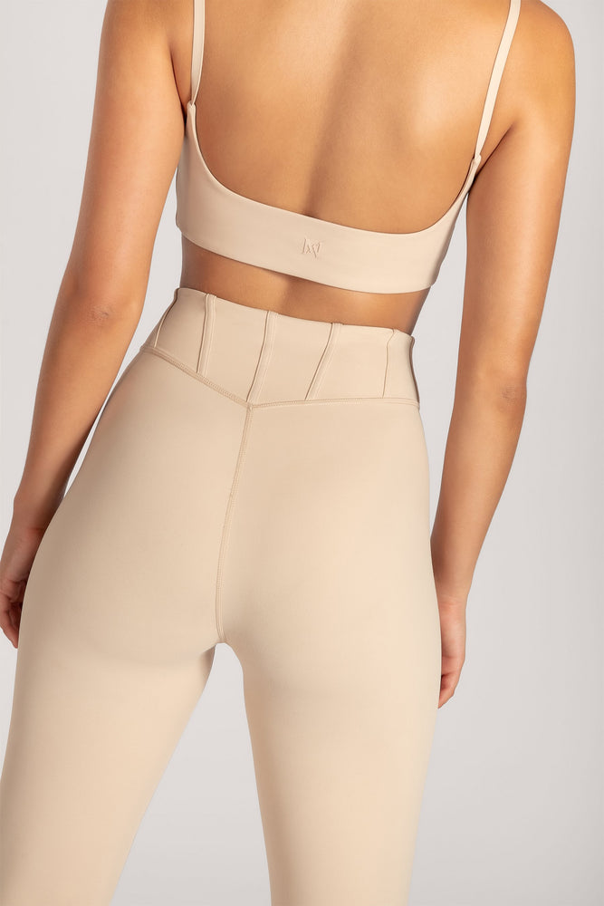 Ceres Corsetted Waist Leggings - Nude - MESHKI