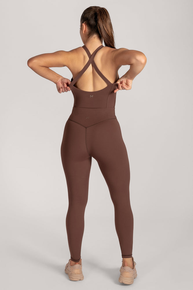 Hera Panelled Bodysuit - Chocolate - MESHKI